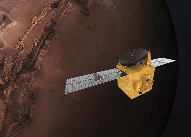 La sonda árabe Al Amal entró en órbita alrededor de Marte