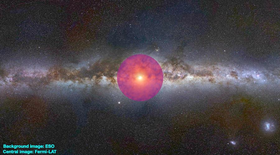 Misterioso brillo del centro de la Vía Láctea podría deberse a materia oscura