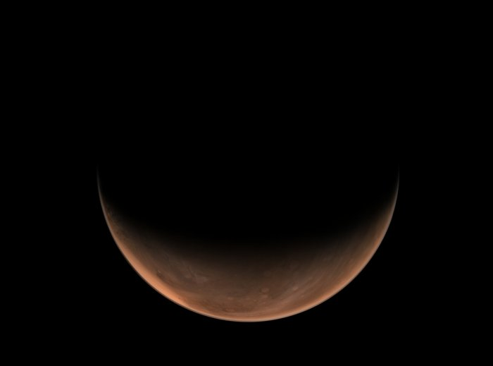 La misión Tianwen-1 envía hermosas fotos del planeta rojo